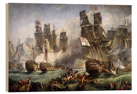 Wood print  The Battle of Trafalgar