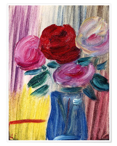 Premium poster Flowers in a blue vase