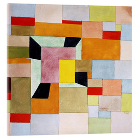 Acrylic print  Split color squares - Paul Klee