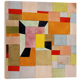 Wood print  Split color squares - Paul Klee