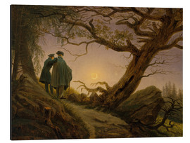 Aluminium print  Two men contemplating the moon - Caspar David Friedrich