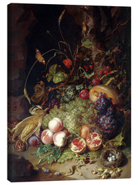 Canvas  Still life with fruits and insects - Rachel Ruysch
