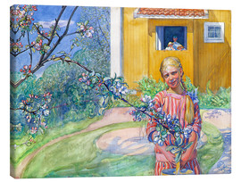 Canvas print  Girl with apple tree branch - Carl Larsson