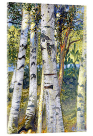 Acrylic print  Birch trunks - Carl Larsson