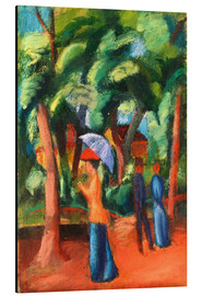 Aluminium print  Walk in the park - August Macke
