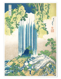 Poster  The Yoro waterfall in Mino Province - Katsushika Hokusai