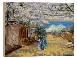 Wood print  Cherryblooms in sunshine - Theodore Wores