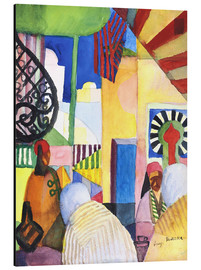 Aluminium print  In the Bazar - August Macke