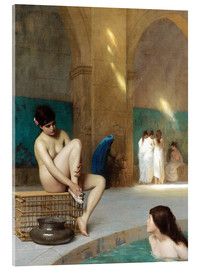 Acrylic glass  Frauenbad - Jean Leon Gerome