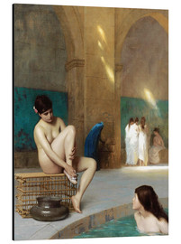 Aluminium print  Women at the Roman baths - Jean Leon Gerome