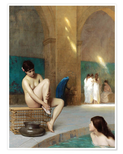 Premium poster Women at the Roman baths