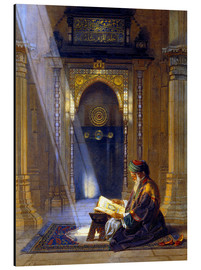 Aluminium print  In the Mosque - Carl Friedrich Heinrich Werner