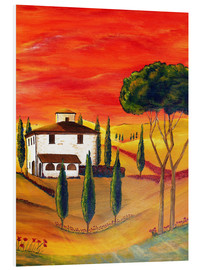 Foam board print  Warmth of Tuscany - Christine Huwer