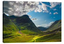 Canvas print  Glen Coe, Scotland - Reiner Würz