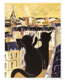Premium poster  Cats on the rooftops of Paris - JIEL