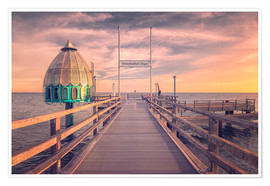 Premium poster Diving bell at pier Zingst (Darss/Baltic Sea)