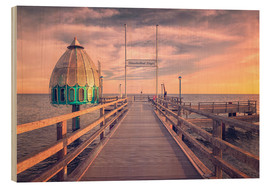 Wood print  Diving bell at pier Zingst (Darss/Baltic Sea) - Dirk Wiemer