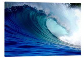 Acrylic glass  Big blue wave - Paul Kennedy