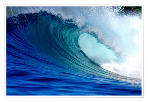 Premium poster Big blue wave