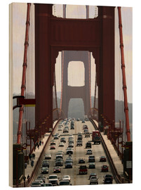 Wood print  Golden Gate Bridge - Marcel Schauer