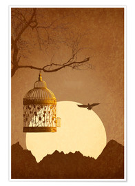 Premium poster  Freedom from the golden cage - Monika Jüngling