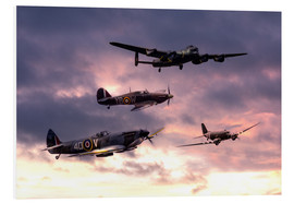 Foam board print  Battle of Britain Memorial - airpowerart