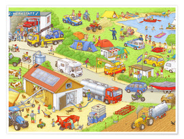 Poster  Cars search and find: In the countryside - Stefan Seidel
