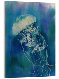 Wood print  Jellyfish - Jitka Krause