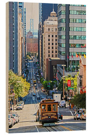 Wood print  San Francisco Downtown - Marcel Schauer