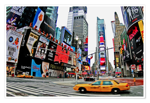Premium poster New York - Times Square