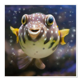 Premium poster  fugu the bowlfish - Photoplace Creative