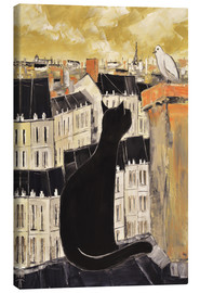 Canvas print  Cat and dove in Paris - JIEL