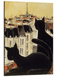 Aluminium print  Black cats on Parisian roof - JIEL