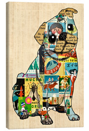 Canvas print  Pug Collage - GreenNest