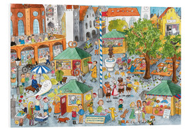 Foam board print  Hidden object poster, Market in Munich - Annegret Reimann