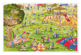 Poster  Learn and laugh, hidden object: on the playground (German) - Katherina Lindenblatt