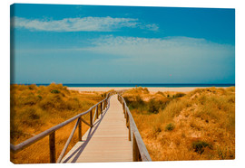 Canvas print  way to the beach - Tarifa (Andalusia), Spain - gn fotografie