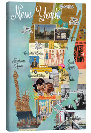 Canvas print  New York Collage - GreenNest
