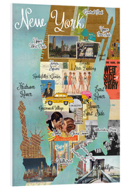 Foam board print  New York Collage - GreenNest