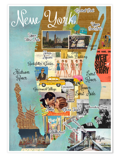Premium poster New York Collage