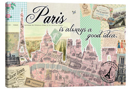 Canvas print  Paris is always a good idea - GreenNest