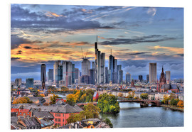 Forex  Frankfurt skyline in the evening light - HDR - HADYPHOTO by Hady Khandani