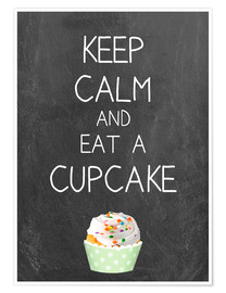 Premium poster  Keep calm and eat a cupcake - GreenNest