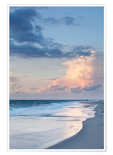 Premium poster Sylt, sunset at the beach