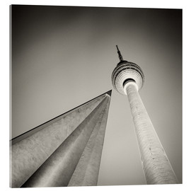 Acrylic print  Berlin - Television Tower (Analogue Photography) - Alexander Voss