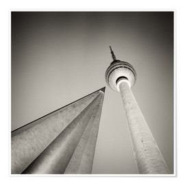 Premium poster Berlin - Television Tower (Analogue Photography)