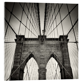 Acrylic glass  New York City - Brooklyn Bridge (Analogue Photography) - Alexander Voss
