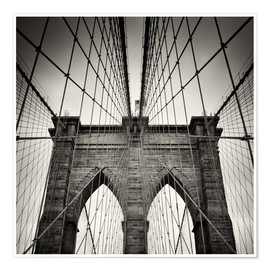 Premium poster  Brooklyn Bridge, New York City - Alexander Voss
