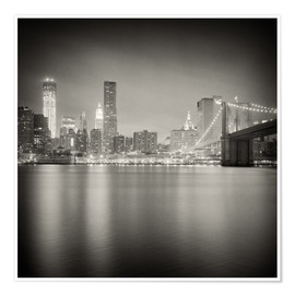 Premium poster New York skyline at night