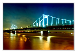Premium poster  Bridge over River Rhine - Daniel Heine